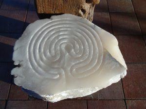 Labyrint van albast maken @ De Schaapshoeve