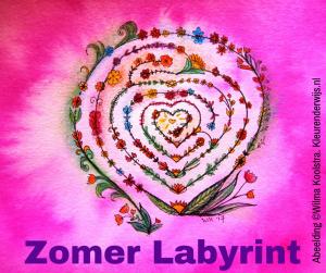 Zomerlabyrint - hart lichtjes labyrint @ De Drie Gratiën